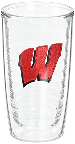 (Tervis Wisconsin University Emblem Tumbler (Set of 2), 16 oz, Clear)
