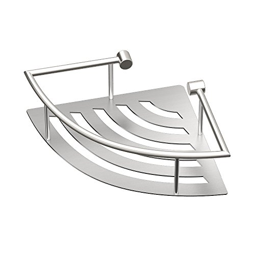 Gatco 1456 Elegant Corner Shelf, Brushed, 11'' by Gatco