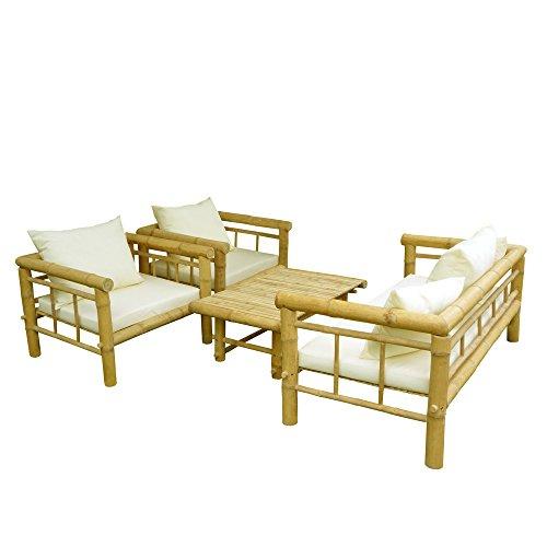 Zero Emission World SET-029-0-03 ZEW Bamboo Sofa Set, Natural