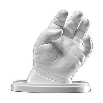 Lucky Hands® Huellas de bebe en 3D | Bebés hasta 6 meses | Improntas mano y pie | regalo de navidad, regalo de nacimiento (4-6 moldes)