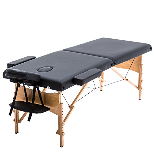 New Black 84″ Portable Massage Table w/Free Carry Case T1 Chair Bed Spa Facial