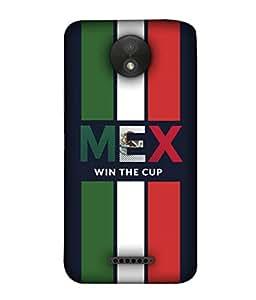 ColorKing Football Mexico 02 Black shell case cover for Motorola Moto C Plus