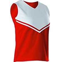 Alleson Girls Cheerleading V Shell Top with Braid