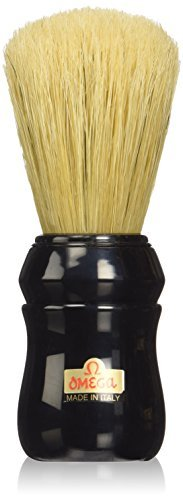 Omega Professional Boar Bristle Shaving Brush, Black Handle Boar Shaving Brush