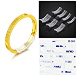 Invisible Ring Size Adjuster for Loose Rings (7 Size 14 Pieces), Anelku Rings Snuggies, Matching Adhesive Film (7 Size 25 Pieces)
