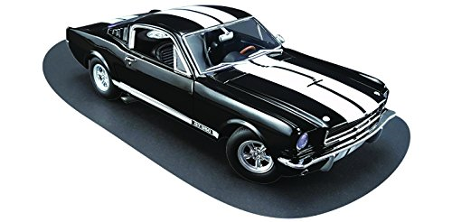1965 Ford Shelby Mustang GT 350 Black with White Stripes Dealer Exclusive Estimated Production of 350pcs 1/18 by Acme A1801802B by Ford (Image #4)