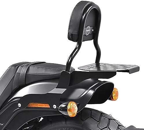 Sissy Bar Cl Fix Kompatibel Für Harley Fat Bob 114 18 21 Mit Gepäckträger Schwarz Auto