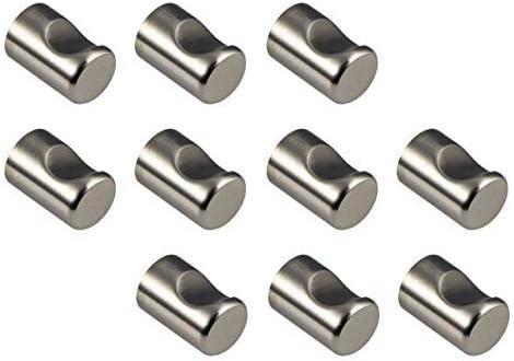 /Ø20 mm EMUCA 9161651 Boutons pour meuble en Zamack Nickel Satin/é Set de 20 Pi/èces
