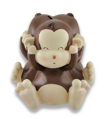 (Zeckos Baby Monkey See, Speak, Hear No Evil Coin Bank 8.5 in.)