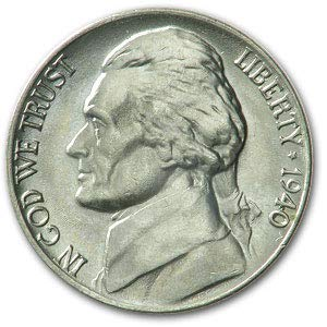 (1940 Jefferson Nickel BU Nickel Brilliant)