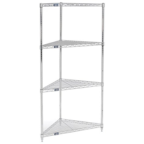 Corner Wire Shelving 24''W x 18''D x 74''H by Global Industrial (Image #1)