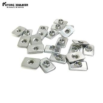 Impresora 3D - 1000 piezas/lote M5 cincado Tuercas en T para ...