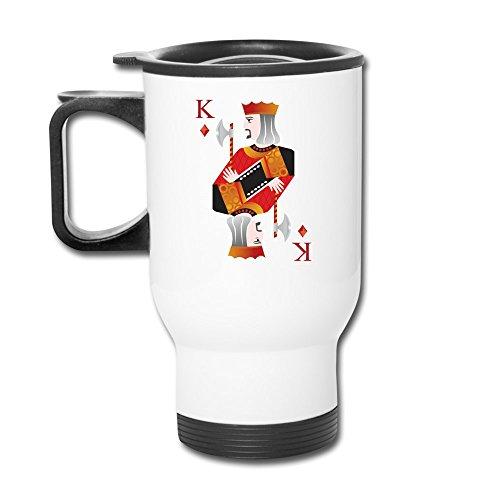 12 Oz Travel Mug - King Poker Deck Mug ()