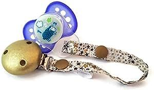 dea-concept - Cadena chupete bebé - liberty - clip oro ...
