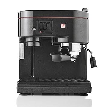 Brielstore ES51GR Independiente Manual Máquina espresso 2L 1tazas Negro - Cafetera (Independiente, Máquina espresso, 2 L, De café molido, 1260 W, ...