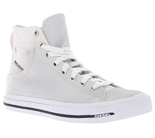Argento Bianco Exposure Donna Lacci Alte Scarpe Sneaker Diesel Glitter nWwgpq0ZZ