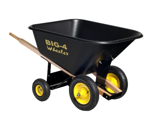 Big 4 Wheeler Heavy Duty Wheelbarrow, 10 Cubic Feet by Big 4 Wheeler