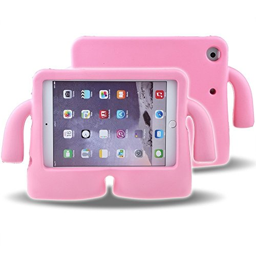 Lioeo iPad Mini Case for Kids Freestanding with Handle Lightweight EVA Foam Case for Apple iPad Mini 4 3 2 1 7.9 inch (Pink) by Lioeo (Image #7)