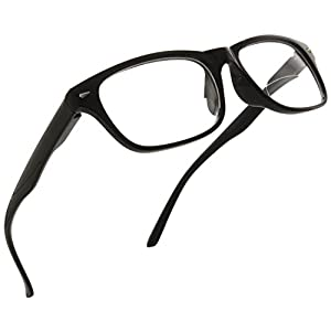 Trendy Bifocal Reading Glasses Readers with Spring Hinges for Men and Women [Black, 3.00]
