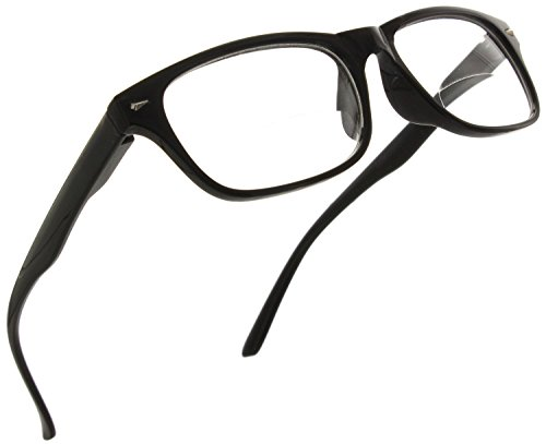- Trendy Bifocal Reading Glasses Readers with Spring Hinges for Men and Women [Black, 1.00]