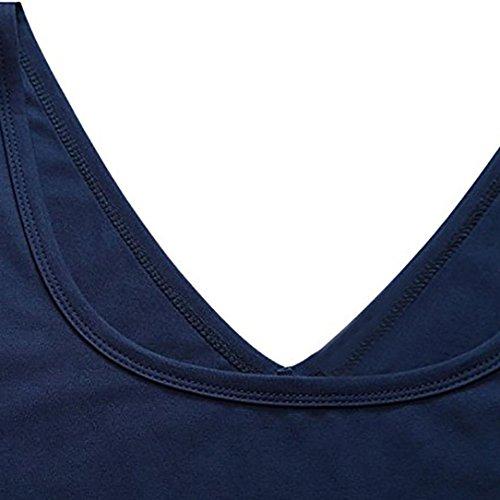 Robe Unie Ba Manches Robe Marine Femme Slim Robes Zha Hei Femme sans Décontracté Couleur Décontractée Été de de Daily vZBwWq