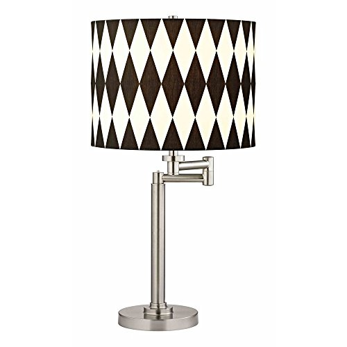 Swing Arm Table Lamp with Harlequin Lamp Shade