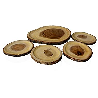 RoRo Hand-Crafted 16 in 5-piece Reversible Appetizer set made from End-Grain Sustainable Wood