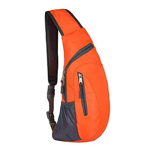 1pc Orange Sling Bags Men Shoulder Backpack Inclined Shoulder Bag
