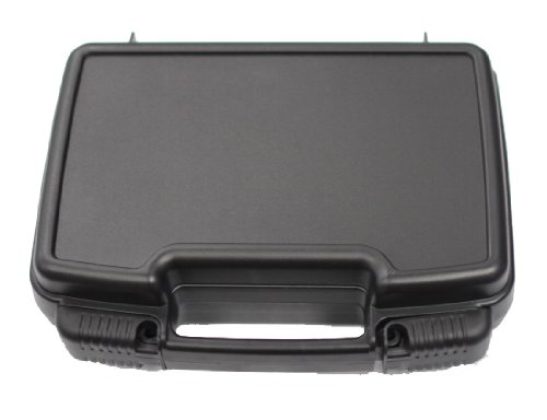 Single Pistol Case - Secure Premium Hard Plastic Gun Cases - Easy to Lock - Locking System Seals Case Tight - Fits Full Size Handgun - Foam Interior - Great for Transport in Car - Fits most Glock, Smith and Wesson (S&W), Ruger, Colt, Beretta, etc.