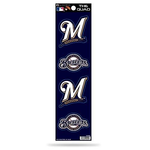 (MLB Milwaukee Brewers Quad Decal)