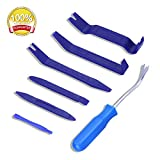 GLISTON 7pcs Trim Removal Tool, Trim Panel Tools - Door Panel Removal/Trim Tool for Car Dash Radio Audio Installer with Instruction Manual