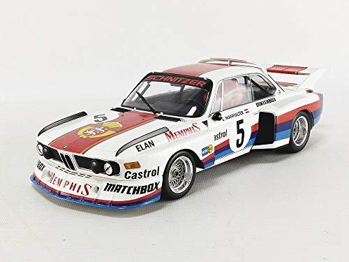 (BMW 3.5 CSL #5 Sepp Manhalter Winner Havirov International (1977) Limited Edition to 414 Pieces Worldwide 1/18 Diecast Model Car by Minichamps)
