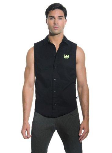 Bristol Low Armhole Shirt, Black, Large