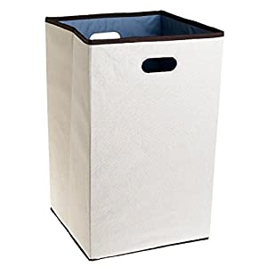 "Rubbermaid Configurations Custom Closet Folding Laundry Hamper Natural 23"" FG"