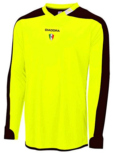 Diadora Enzo Goalkeeper Jersey Shirt, Matchwinner Yellow, Youth (Diadora Soccer Gear)