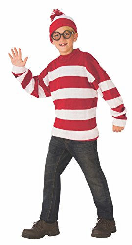 Rubie's Deluxe Child's Where's Waldo Costume, Small ()
