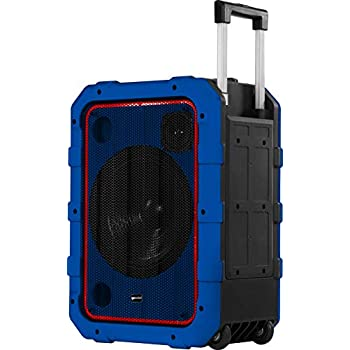 """Gemini MPA-2400 10"""" Rechargeable Weather-Resistant Trolley Speaker with Bluetooth, LED Light Show, 6 DSP Modes, Microphone and Guitar Inputs, ..."""