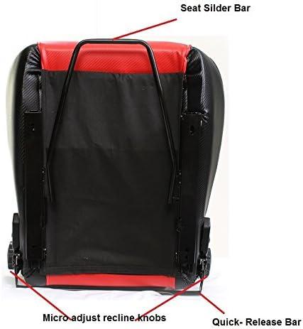 NETAMI NT-5101 Racing Seat with Carbon Fiber Texture Red//Black
