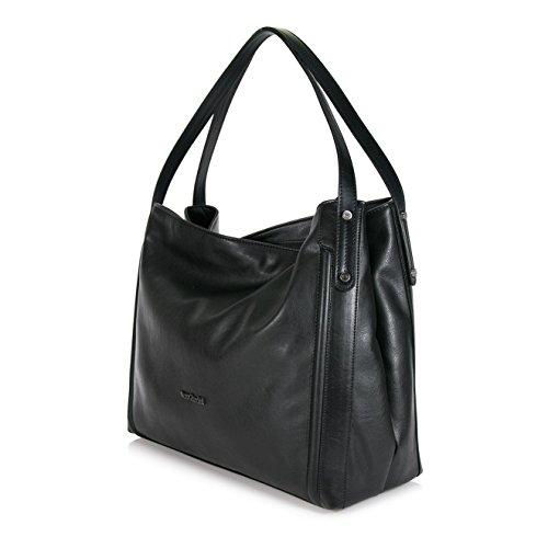 Borsa NeroGiardini modello shopping bag nera con manici (Taglia Unica)