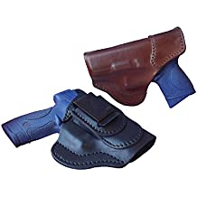 J&J Custom Fit RUGER LCP CUSTOM 380 W/ CT LASER Formed Tuckable IWB Inside Waistband Premium Leather Carry Holster