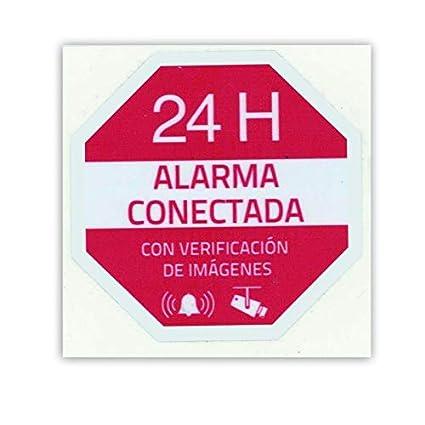 Cartel Alarma Conectada: Amazon.es: Electrónica
