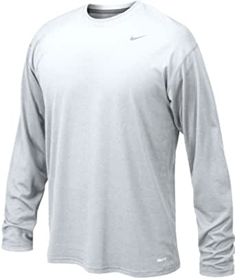 Nike 384408 Legend Dri-Fit Long Sleeve Tee - White