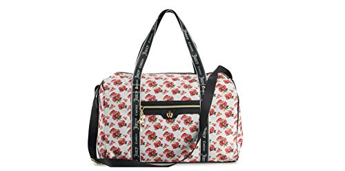 (Juicy Couture Varsity Blooms Travel Duffel Bag Weekender Bag Women Travel Bag Canvas Weekend)