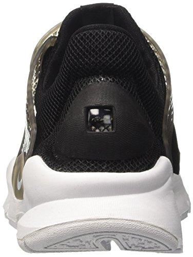 BR White WMNS Formateurs Dart Nike Noir Femme Black Noir Les Blue Sock Glacier aAxgwwF