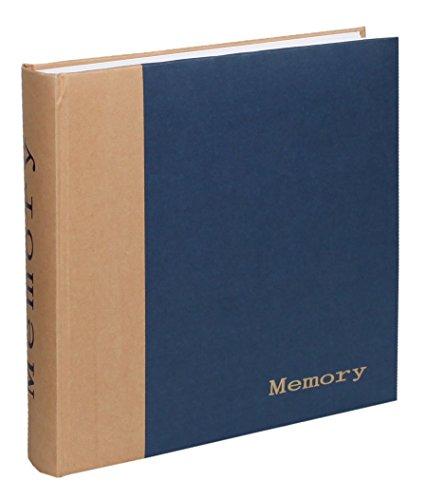 Memory Fotoalbum 30x30 cm 100 weiße Seiten Foto Album Fotobuch Memories: Farbe: Blau