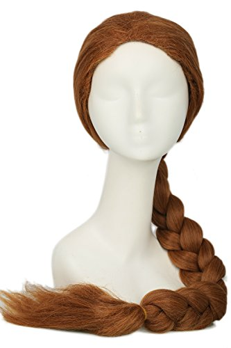 Princess Fiona Wig Cosplay Long Brown Braid Wig Costume Accessories (Fiona Wigs)