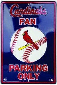 St. Louis Cardinals Fan Metal Parking (Aluminum St Louis Cardinals Frame)
