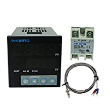 Inkbird °F and °C Display PID Stable Temperature Controller ITC106VH with K Seneor thermocouple and Solid State Relay (ITC-106VH + K + 25A SSR)