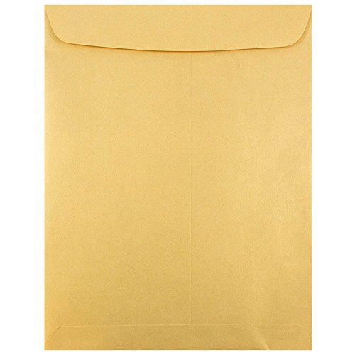 Open End Catalog Envelopes with Gum Closure - Gold Stardream Metallic - 10/pack ()