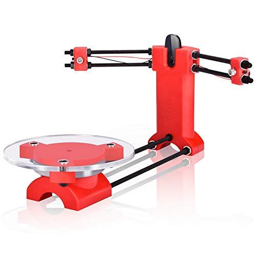 Nrpfell Escaner DIY 3D De Codigo Abierto Escaner Tridimensional Piezas De Plastico De Moldeo por Inyeccion Escritorio para Impresora Reprap 3D